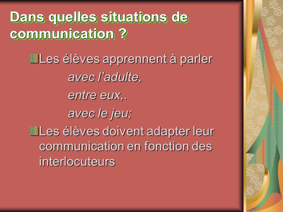 Dans quelles situations de communication
