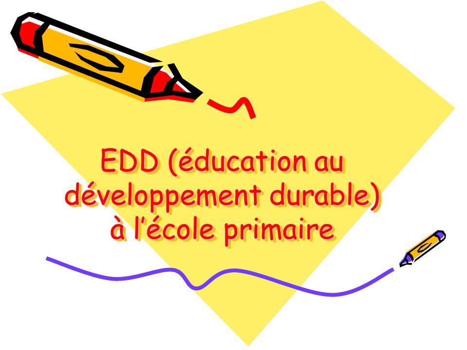EDD (éducation au développement durable) à l'école primaire