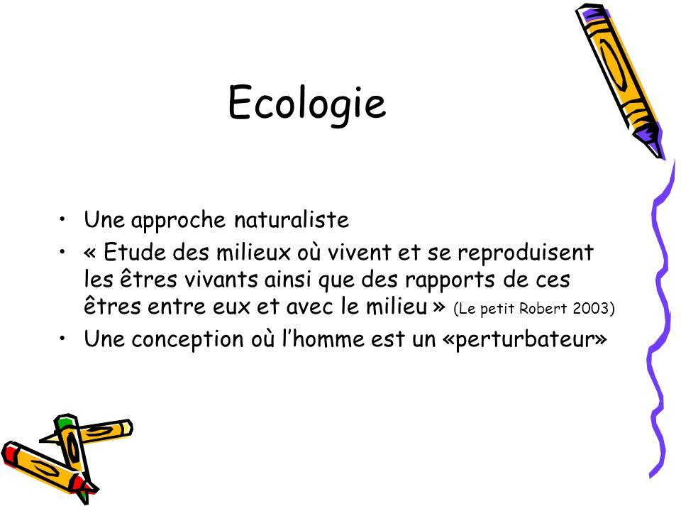 Ecologie Une approche naturaliste