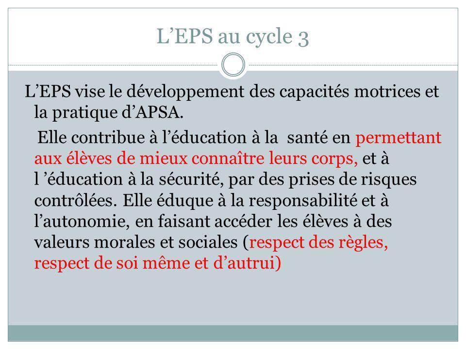 L'EPS au cycle 3