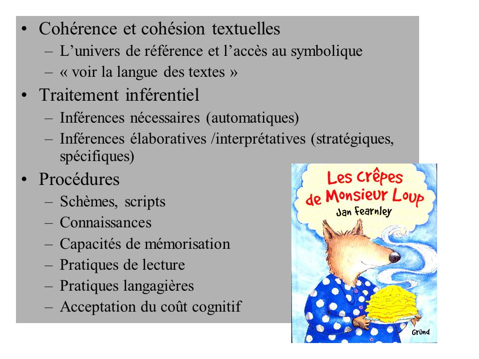 Cohérence et cohésion textuelles