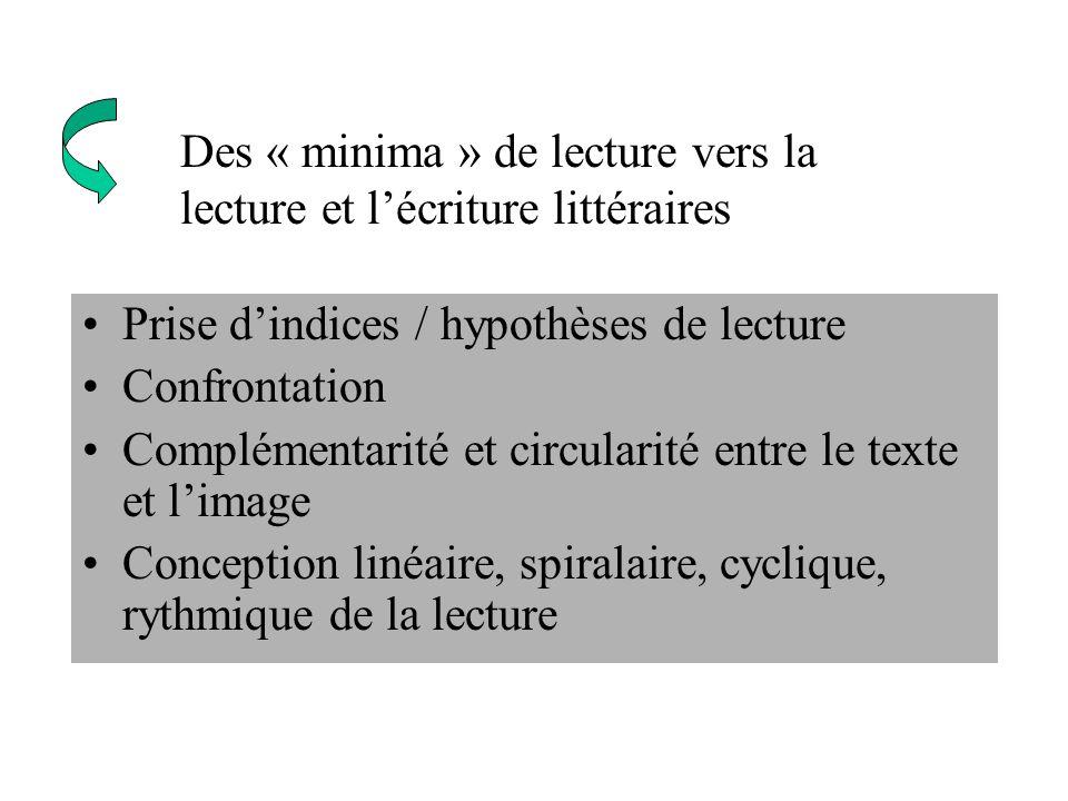 Des « minima » de lecture vers la lecture et l'écriture littéraires