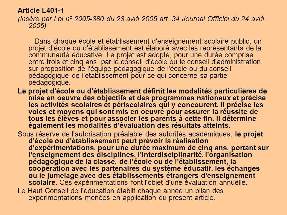 Article L401-1 (inséré par Loi nº 2005-380 du 23 avril 2005 art. 34 Journal Officiel du 24 avril 2005)