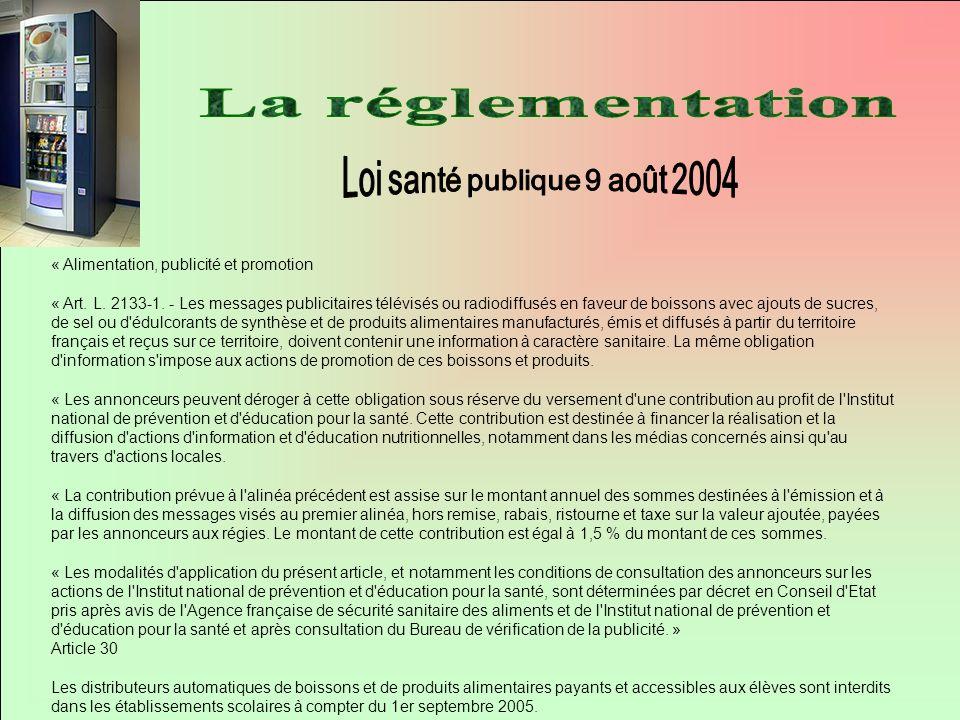 Loi santé publique 9 août 2004