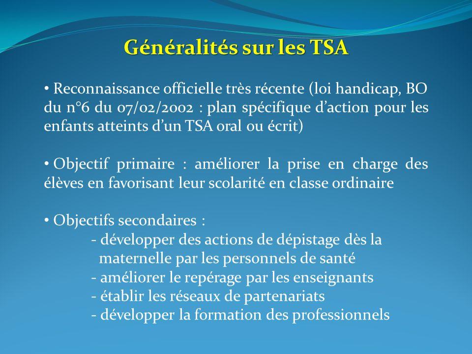 Généralités sur les TSA