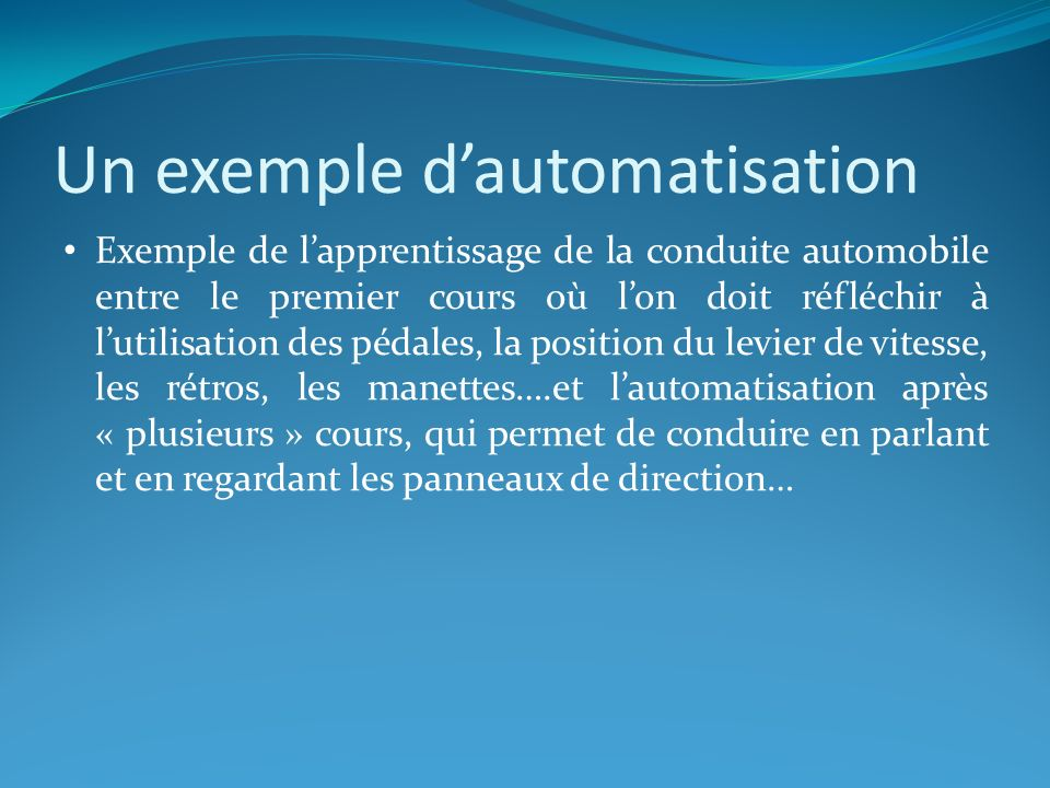 Un exemple d'automatisation