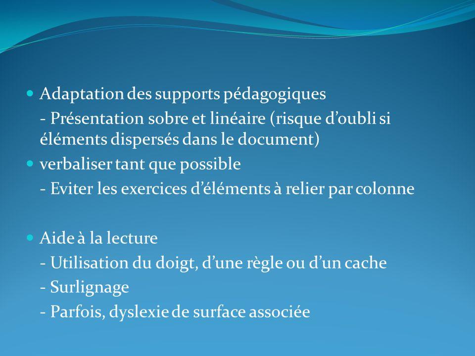 Adaptation des supports pédagogiques