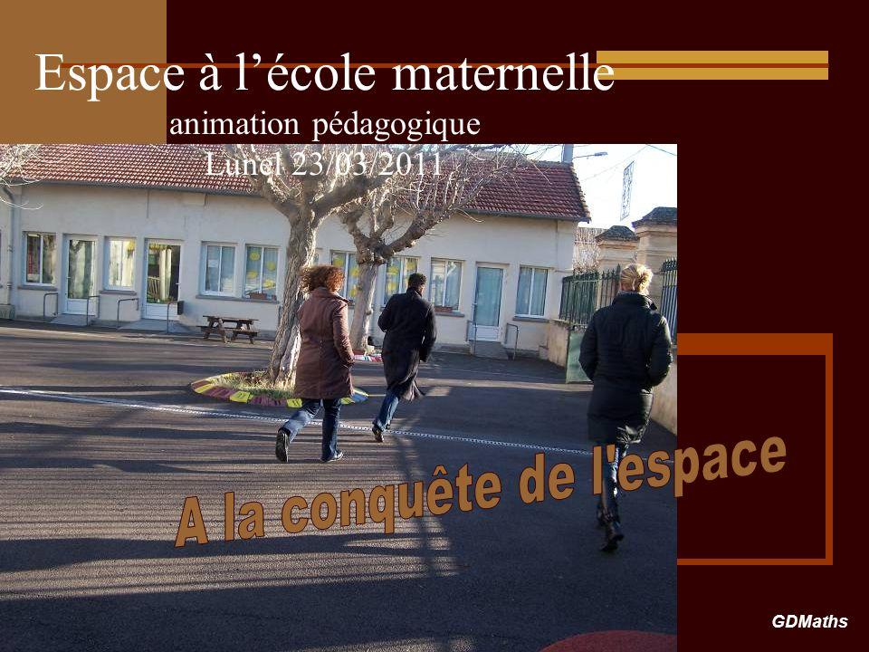 Espace à l'école maternelle animation pédagogique Lunel 23/03/2011