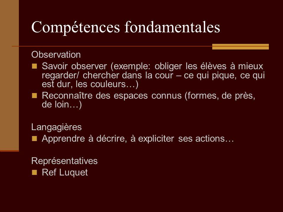 Compétences fondamentales