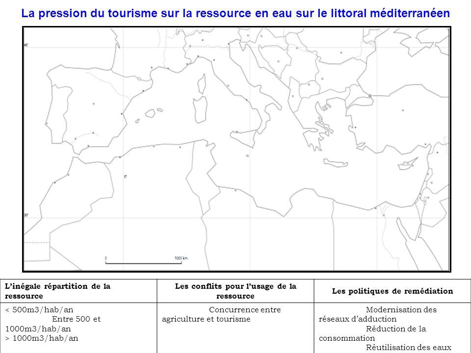 La pression du tourisme sur la ressource en eau sur le littoral méditerranéen