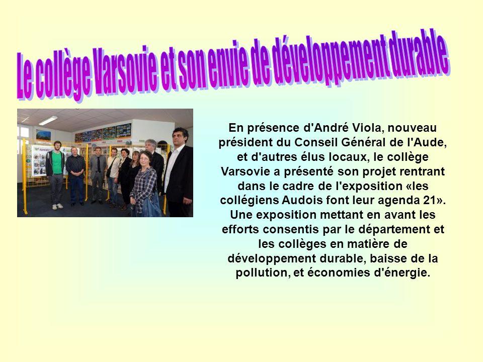 Le collège Varsovie et son envie de développement durable