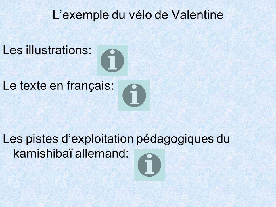 L'exemple du vélo de Valentine