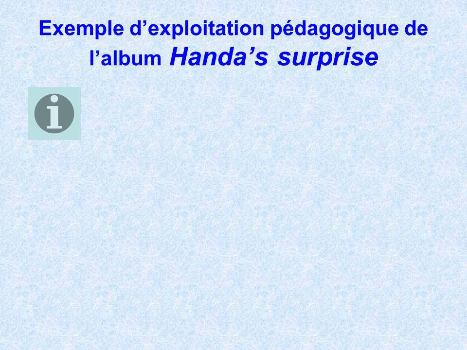 Exemple d'exploitation pédagogique de l'album Handa's surprise