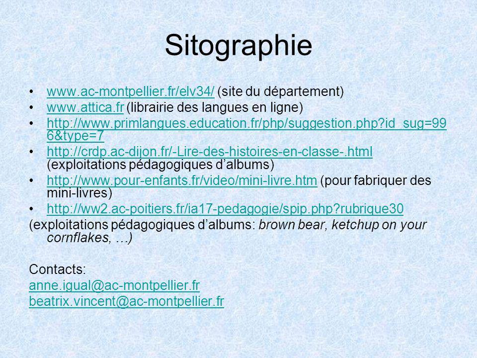 Sitographie www.ac-montpellier.fr/elv34/ (site du département)