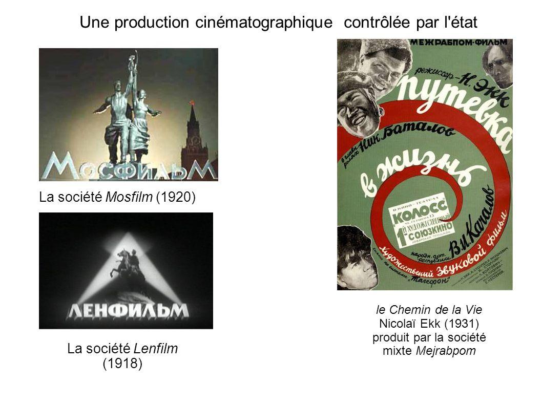 Une production cinématographique contrôlée par l état