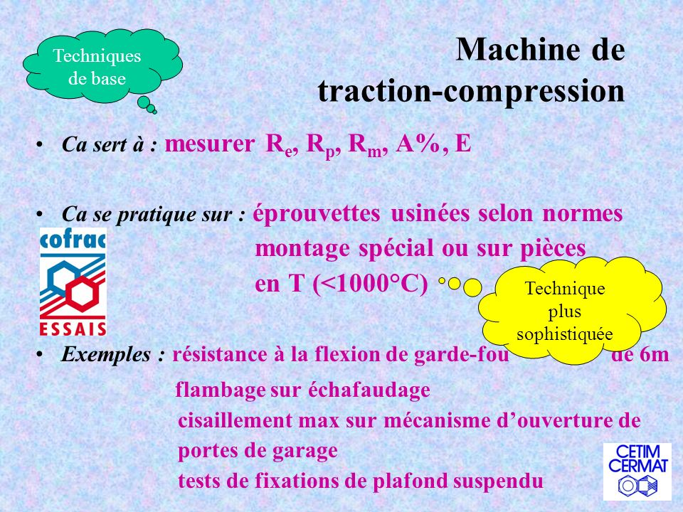 Machine de traction-compression