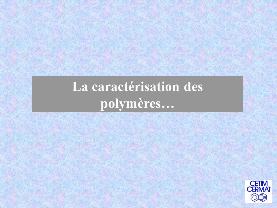 La caractérisation des polymères…