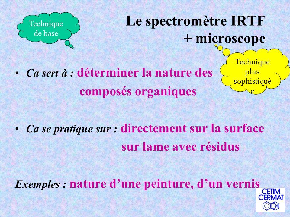Le spectromètre IRTF + microscope
