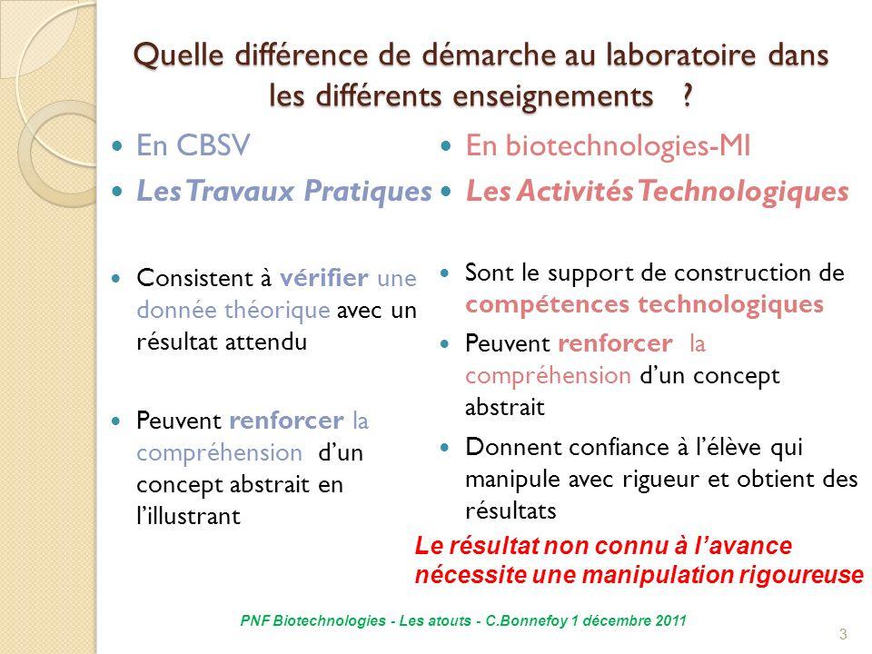 PNF Biotechnologies - Les atouts - C.Bonnefoy 1 décembre 2011
