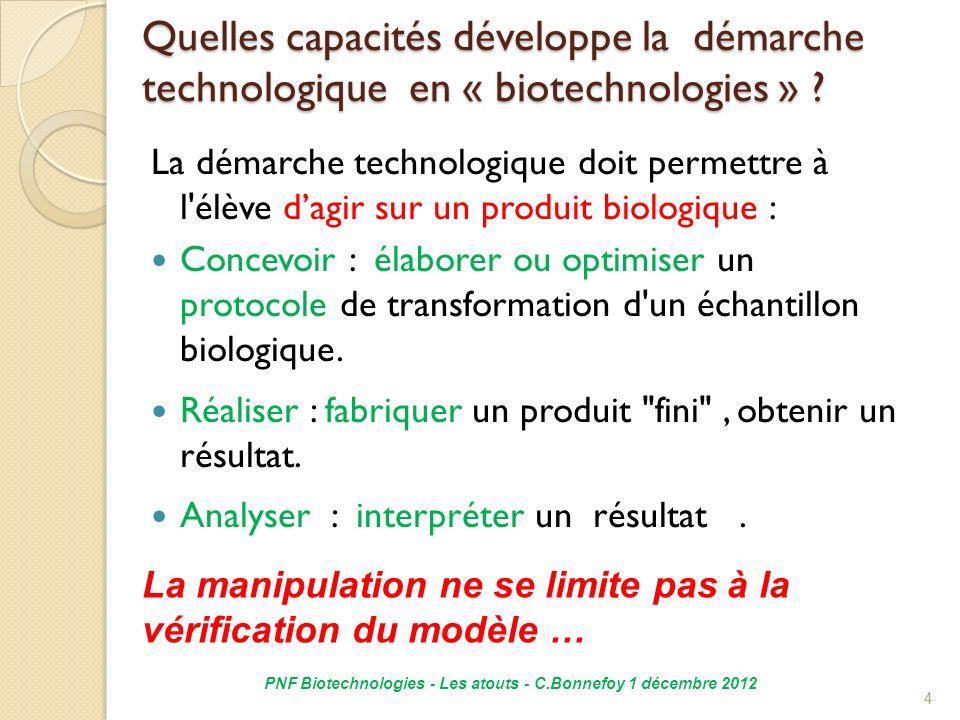 PNF Biotechnologies - Les atouts - C.Bonnefoy 1 décembre 2012