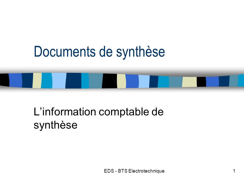 L'information comptable de synthèse