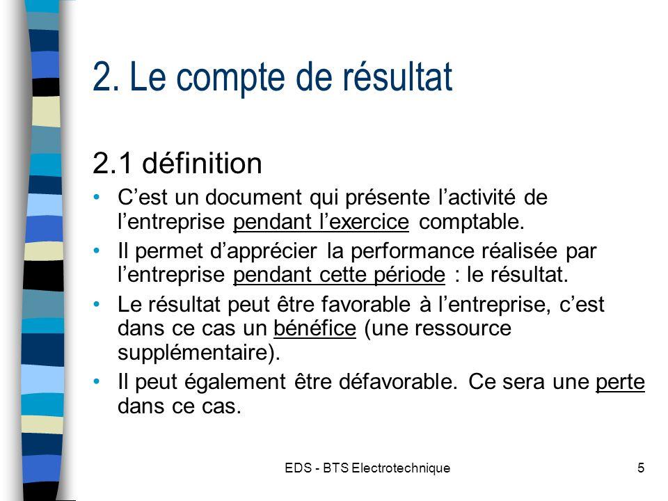 EDS - BTS Electrotechnique