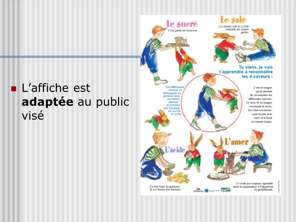 L'affiche est adaptée au public visé