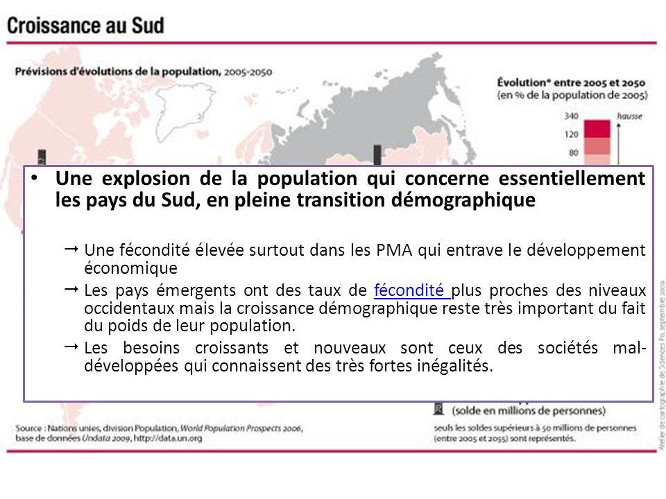 Une explosion de la population qui concerne essentiellement les pays du Sud, en pleine transition démographique
