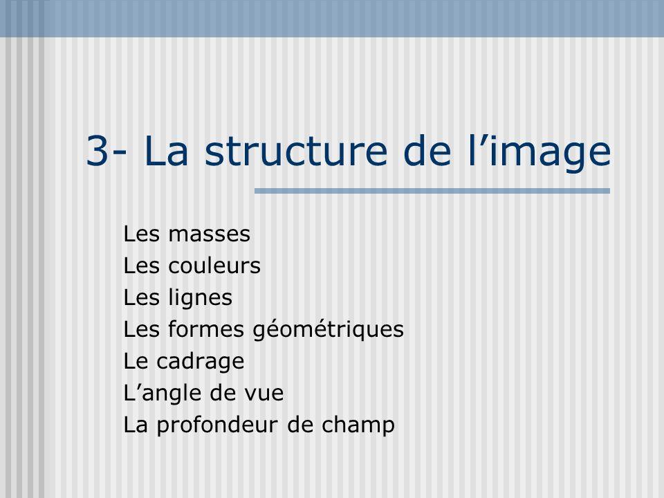 3- La structure de l'image