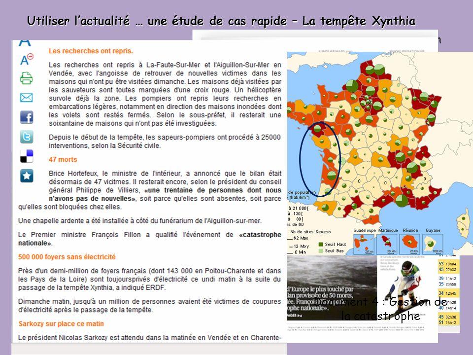 Utiliser l'actualité … une étude de cas rapide – La tempête Xynthia