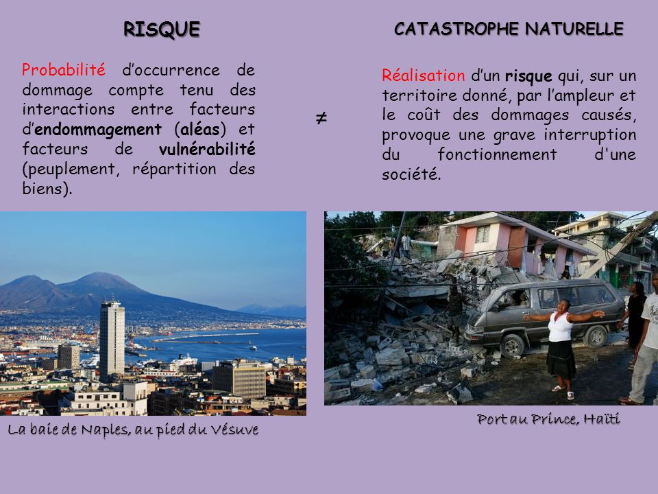 CATASTROPHE NATURELLE