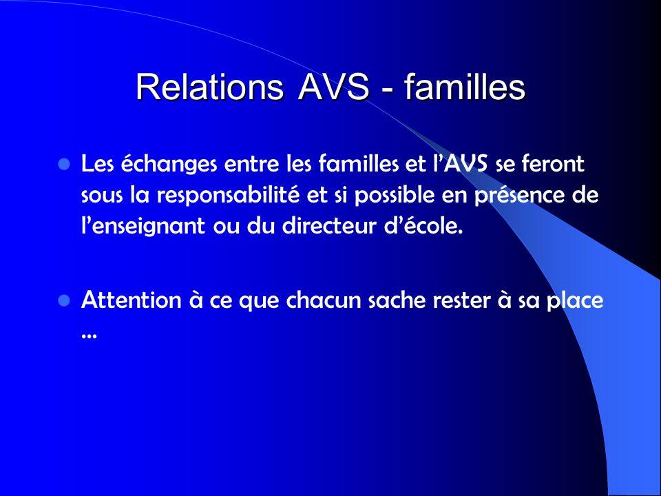 Relations AVS - familles