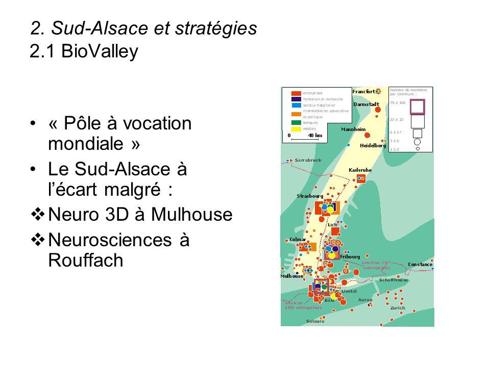 2. Sud-Alsace et stratégies 2.1 BioValley