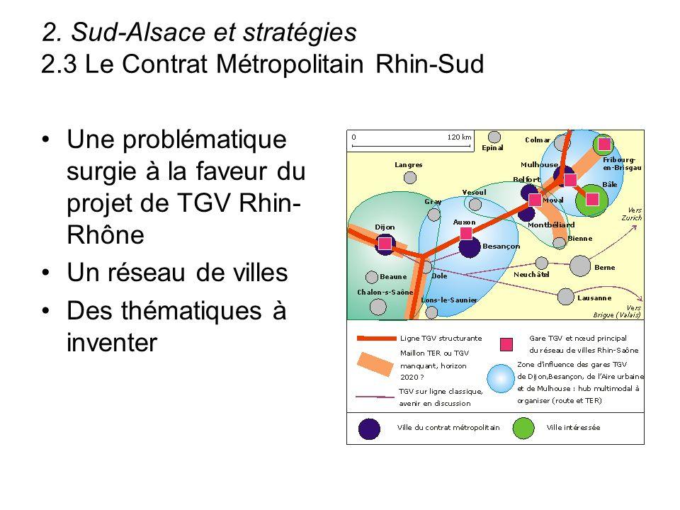 2. Sud-Alsace et stratégies 2.3 Le Contrat Métropolitain Rhin-Sud