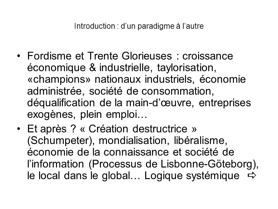 Introduction : d'un paradigme à l'autre