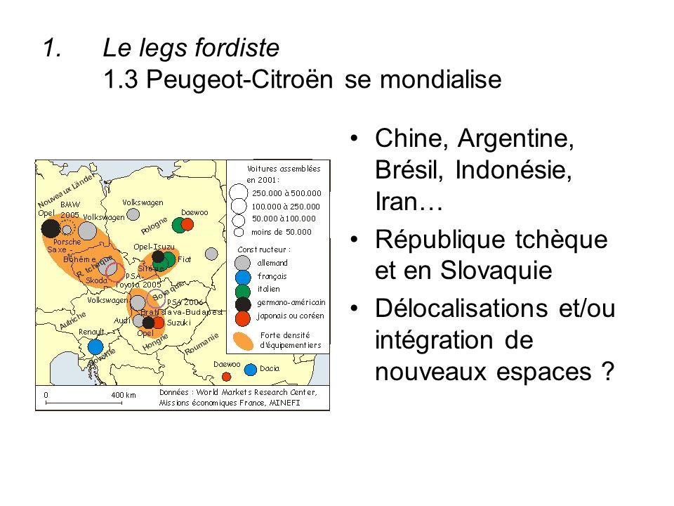 Le legs fordiste 1.3 Peugeot-Citroën se mondialise