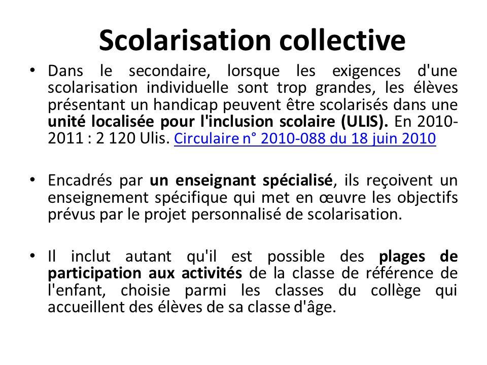 Scolarisation collective