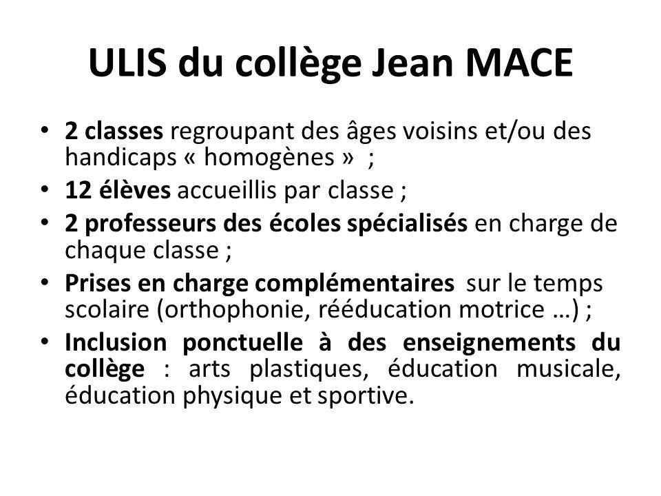 ULIS du collège Jean MACE