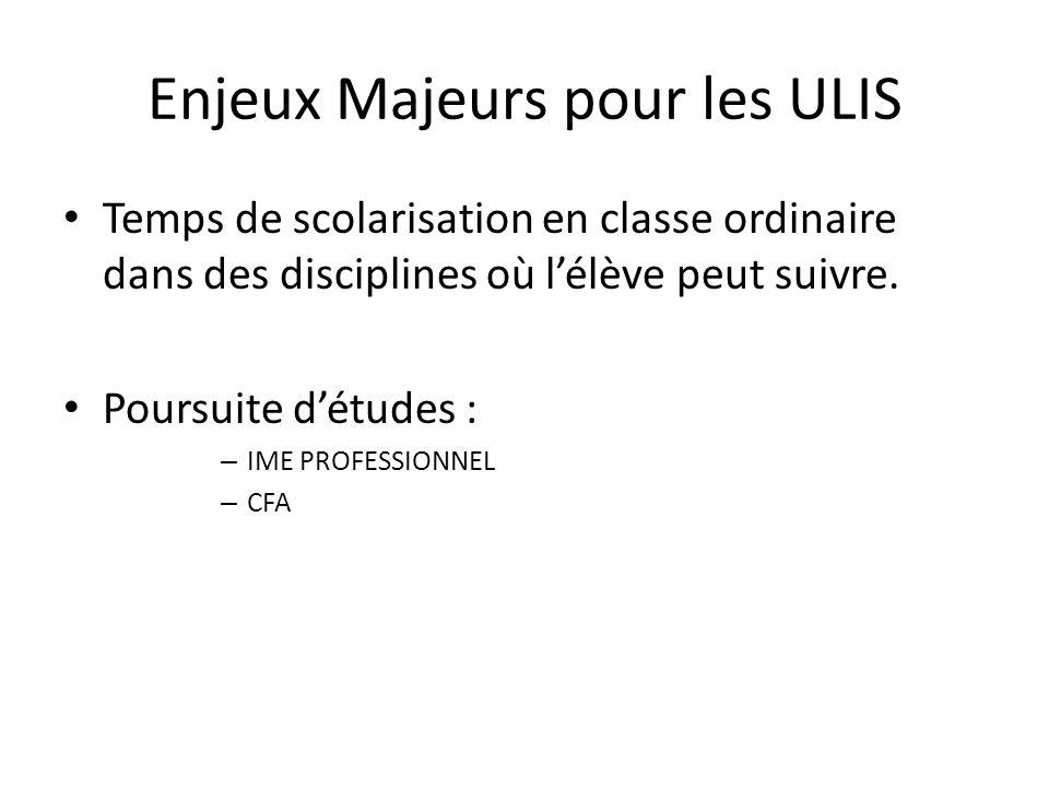 Enjeux Majeurs pour les ULIS