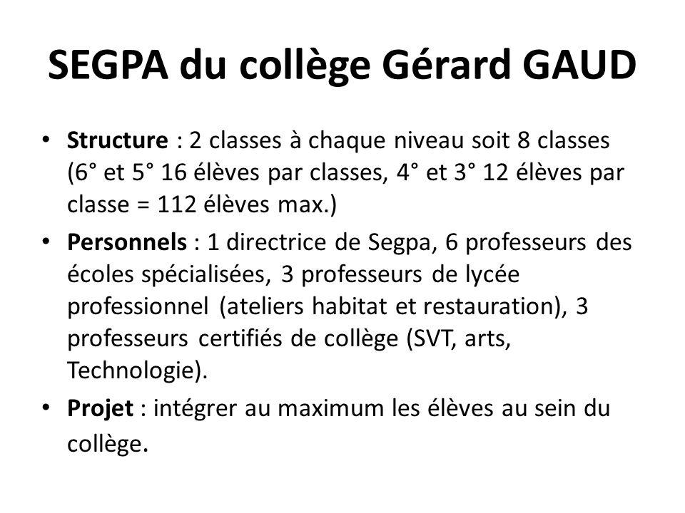 SEGPA du collège Gérard GAUD