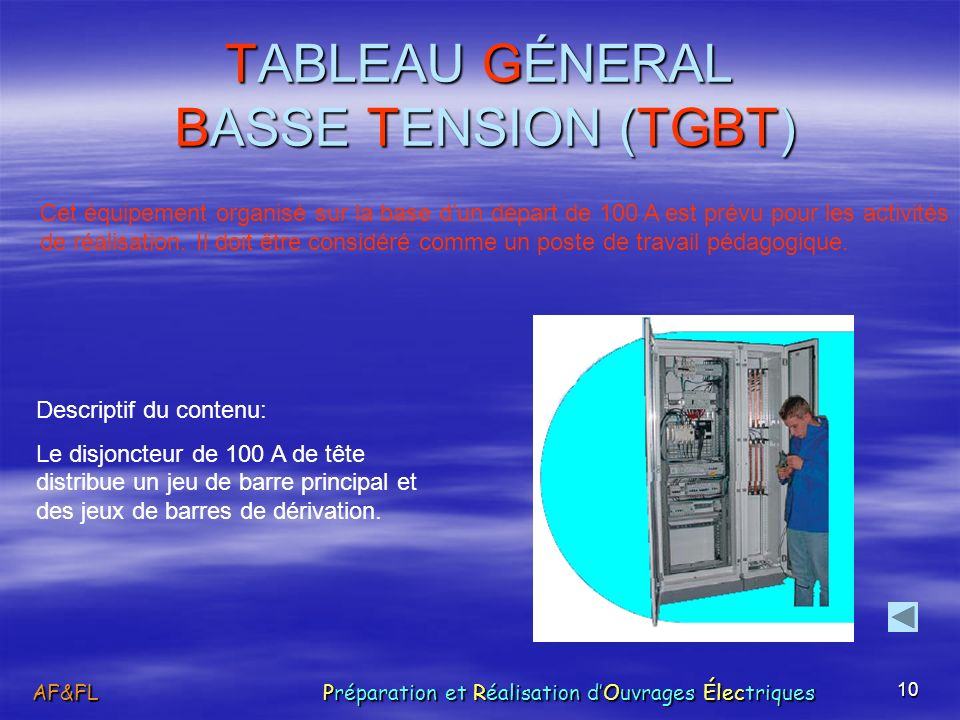 TABLEAU GÉNERAL BASSE TENSION (TGBT)