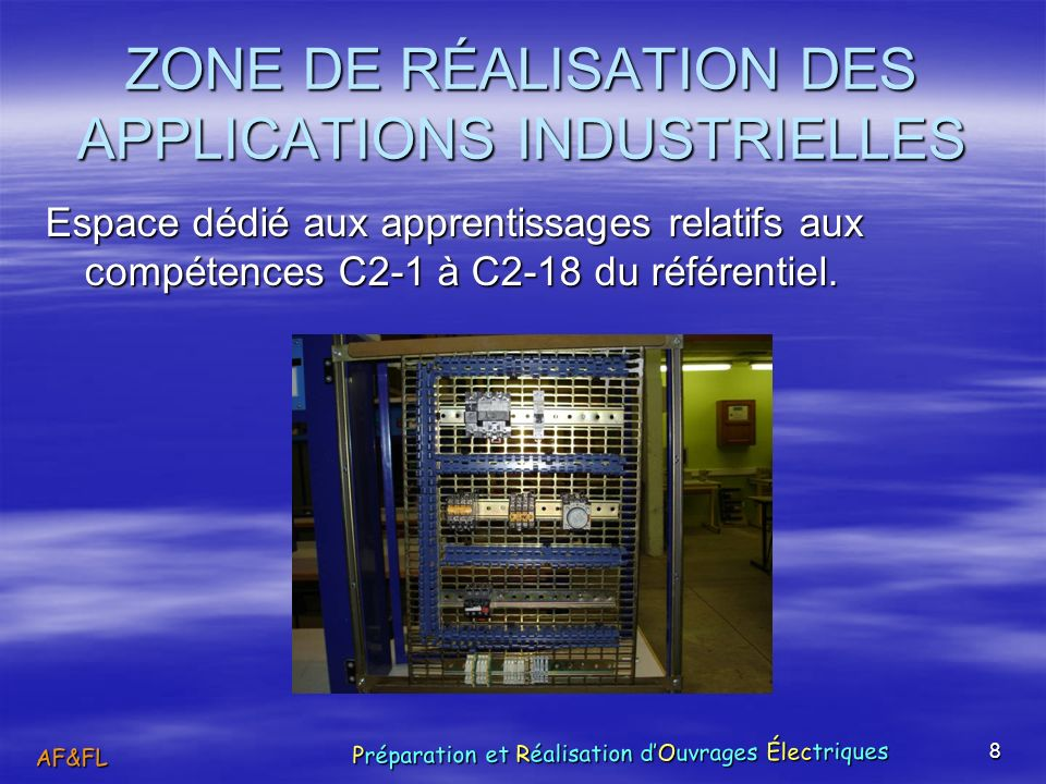 ZONE DE RÉALISATION DES APPLICATIONS INDUSTRIELLES