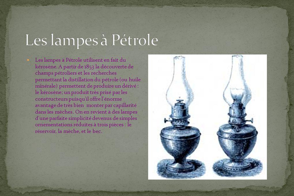 Les lampes à Pétrole