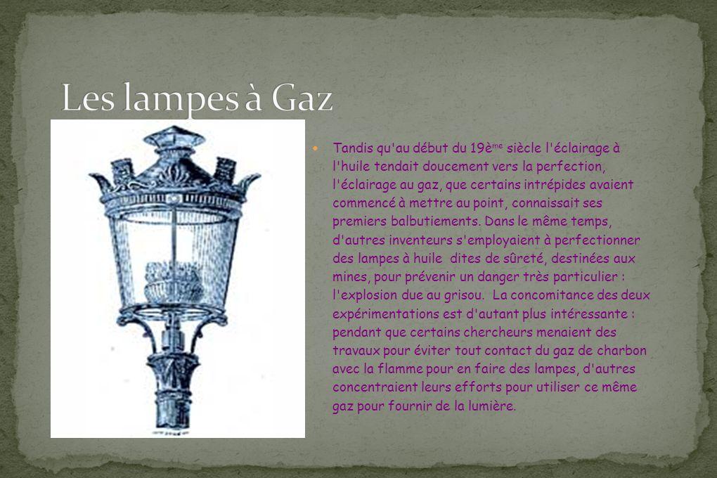 Les lampes à Gaz