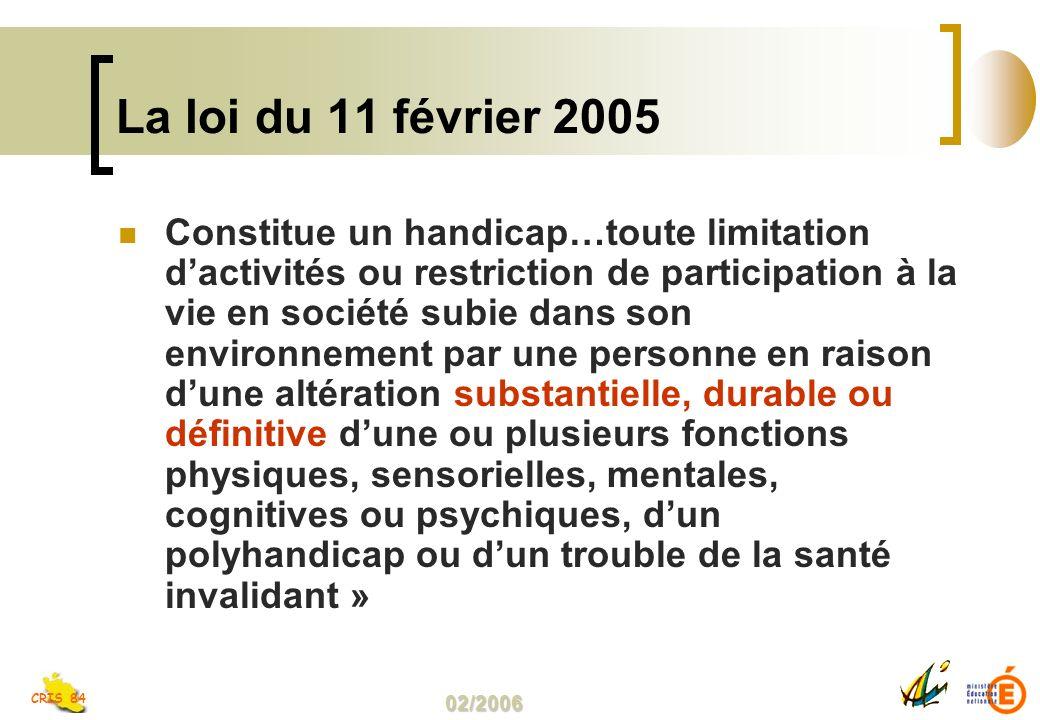 La loi du 11 février 2005