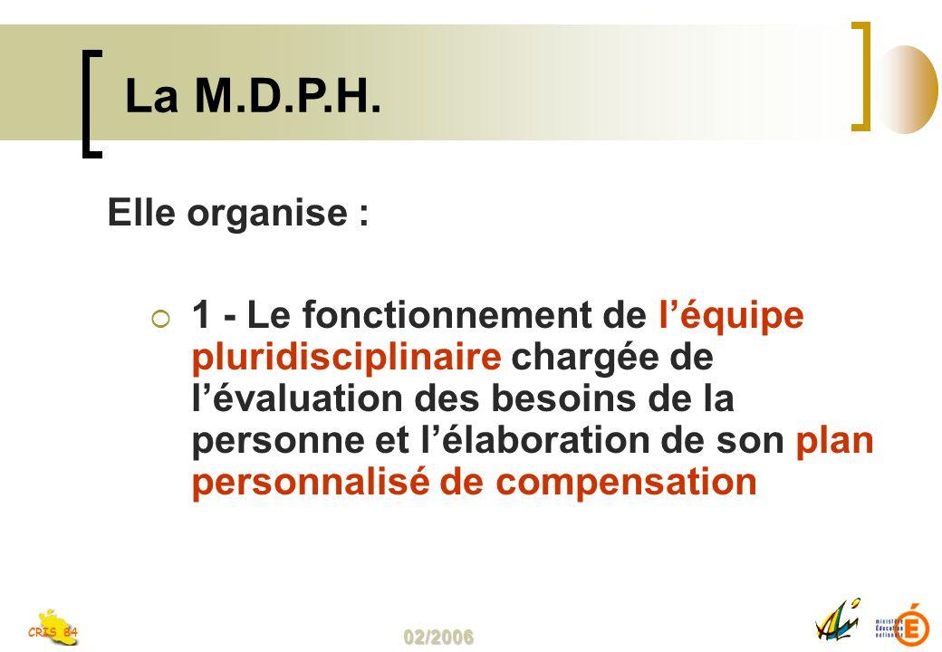 La M.D.P.H. Elle organise :