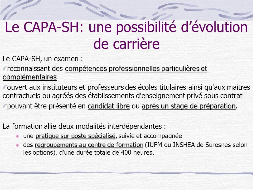 Le CAPA-SH: une possibilité d'évolution de carrière