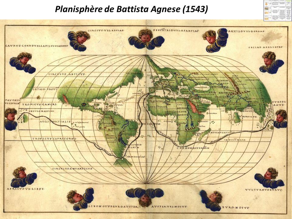 Planisphère de Battista Agnese (1543)