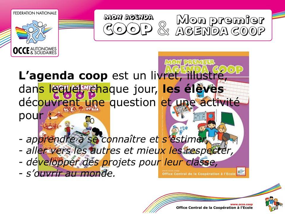 L'agenda coop est un livret, illustré,