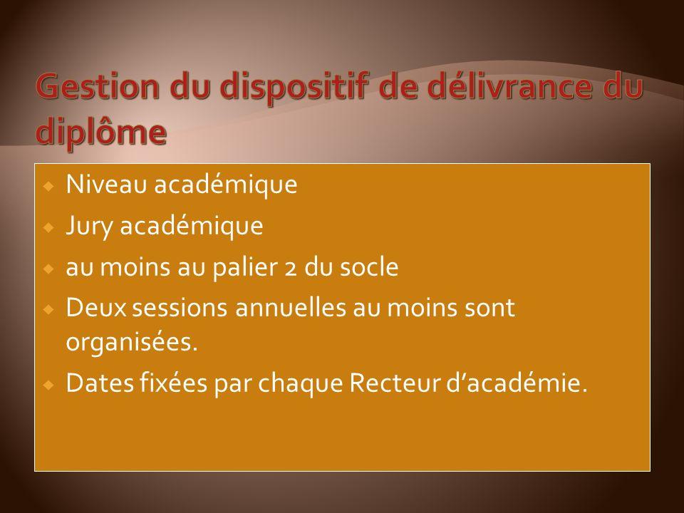 Gestion du dispositif de délivrance du diplôme